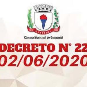 Câmara Municipal de Guanambi emite novo decreto.