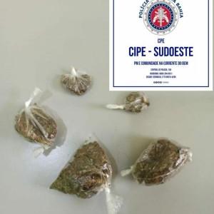 Homem é preso com drogas na zona rural de Sebastião Laranjeiras.