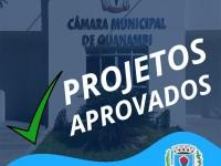 Projetos aprovados na Câmara Municipal de Guanambi no 1º semestre de 2020