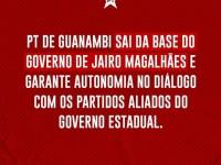 PT de Guanambi entrega cargos na administração de Jairo Magalhães.
