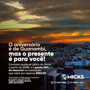Em homenagem a Guanambi, Micks realiza promoção pelo aniversário da cidade.