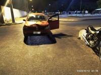 Acidente envolvendo carro e moto é registrado no bairro Paraíso em Guanambi.