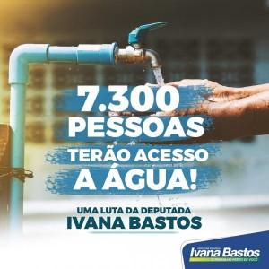 Ivana Bastos garante mais acesso à água para 7.300 pessoas.