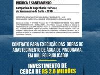 Obras de abastecimento levará água para 4 mil pessoas em Pindorama.