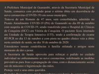 Além do sétimo óbito, mais 23 casos da Covid-19 foram registrados em Guanambi.