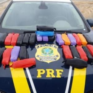 PRF apreende 15 kg de cocaína na BR-030 em Guanambi.