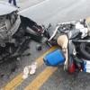 Colisão entre motocicleta e carro na BR-030 deixa um jovem ferido em Guanambi.