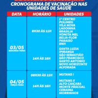 Secretaria de Saúde de Guanambi divulga cronograma da 2ª dose da vacina contra a Covid-19 nos idosos de 66 anos vacinados com a CoronaVac. - Foto 1