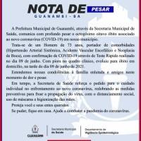 Guanambi registrou mais quatro óbitos e 116 novos casos da Covid-19 nesta quarta-feira. - Foto 3