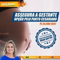Ivana Bastos quer assegurar à gestante a opção pelo parto cesariano. - Foto 1
