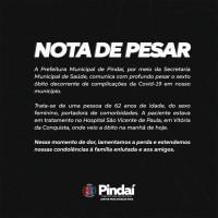 Pindaí registra o sexto óbito por complicações da Covid-19. - Foto 1