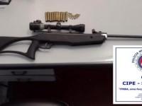 Homem é preso com espingarda de pressão modificada e munições em Sebastião Laranjeiras.