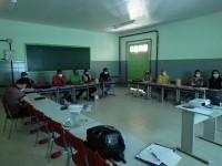Secretaria de Educação reúne gestores escolares e discute a volta das aulas.