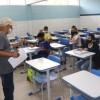Escolas estaduais iniciam aulas semipresenciais para estudantes do Ensino Fundamental.