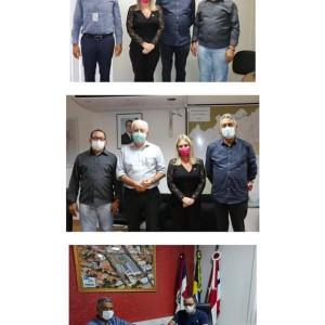 Deputada Ivana Bastos e prefeito levam obras de iluminação para Pindaí.