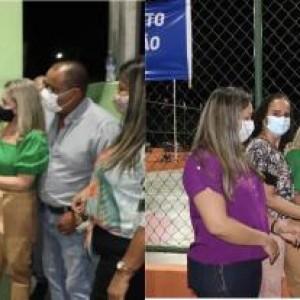 Ivana Bastos e Manoel Rubens entregam obras para comunidades de Palmas de Monte Alto.