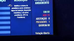 Senado aprova texto-base da reforma da Previdência em segundo turno.