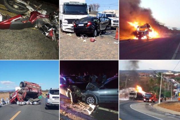 Semana do Trânsito termina com graves acidentes na região de Guanambi.