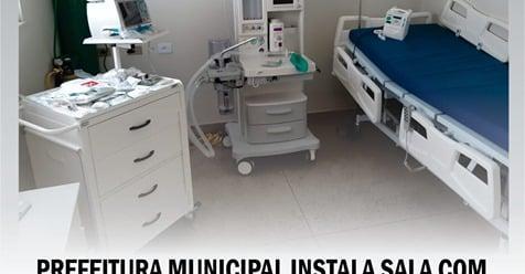 CANDIBA: prefeitura municipal monta sala com suporte ventilatório no Hospital Municipal.