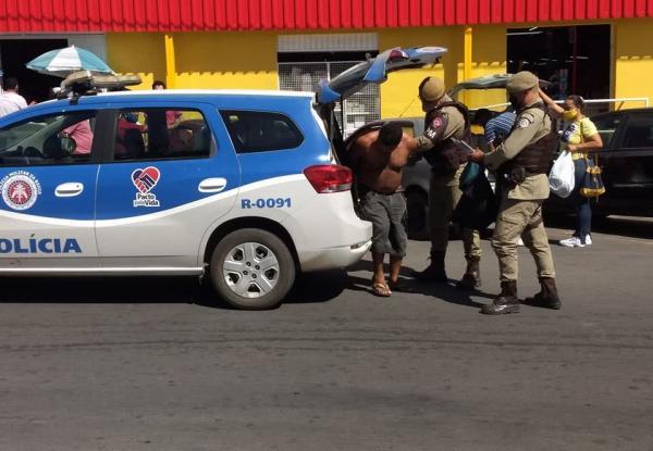 Homem é detido tentado furtar comércio em Guanambi.