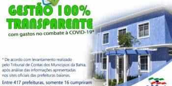 Iuiú se destaca como uma das prefeituras com 100% de transparência dos gastos no combate à covid-19.