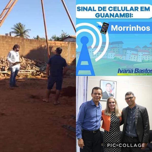 """""""Mais uma etapa vencida"""", afirma Ivana sobre implantação do sinal de celular em Morrinhos."""