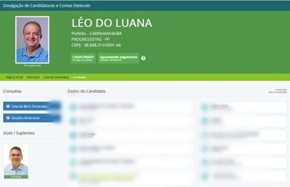 Carinhanha: Léo do Luana e Gilvan Crente registram candidaturas na Justiça Eleitoral.