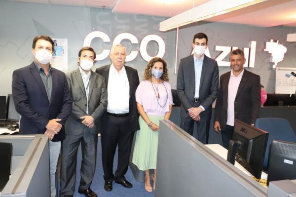 Em São Paulo, Nilo cumpre agenda de trabalho e é recebido pela diretoria da Azul Linhas Aéreas.