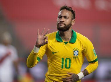 Neymar faz três e conduz virada do Brasil sobre o Peru nas Eliminatórias.