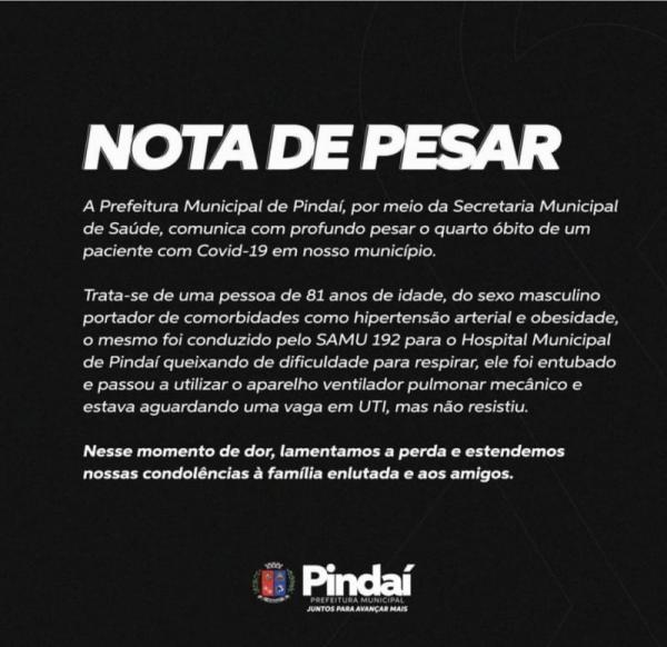 Pindai: ancião de 81 anos do Distrito de Guirapá morre por complicações da Covid 19.