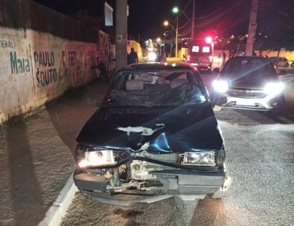 Guanambi registra colisão envolvendo moto e carro.