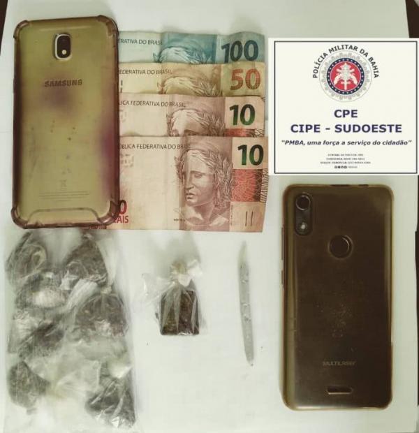 Trio é preso com drogas em Palmas de Monte Alto.