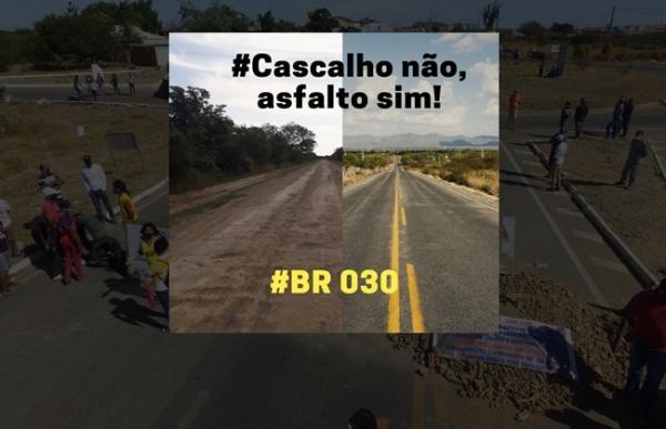 Audiência que discutiria pavimentação da BR-030 entre Carinhanha e Cocos foi reagendada.