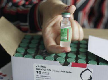 Bahia recebe mais 491 mil doses de vacina da AstraZeneca para segunda aplicação.
