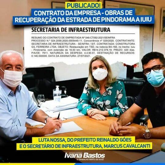 Publicado o contrato da empresa responsável pela pavimentação da BA-161 entre Iuiú e Pindorama.