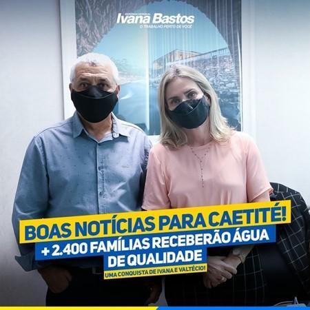 Deputada e prefeito garantem água de qualidade para 2.400 famílias de Caetité.